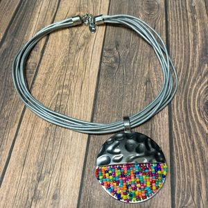 Jules Leather Strap Necklace